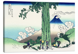 Tableau sur toile  Mishima Pass in the province of Kai - Katsushika Hokusai
