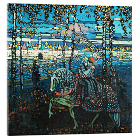 Verre acrylique  Couple on a horse - Wassily Kandinsky