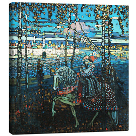 Tableau sur toile  Couple on a horse - Wassily Kandinsky