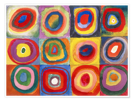 Poster  Colour Study - Squares and concentric rings - Wassily Kandinsky