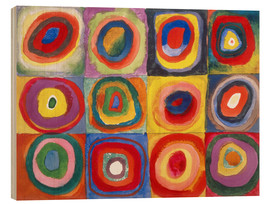 Bois  Colour Study - Squares and concentric rings - Wassily Kandinsky