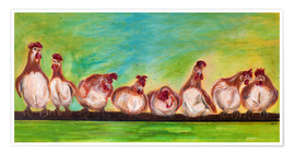 Poster  chicken run - Annett Tropschug