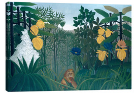 Toile  The meal of the lion - Henri Rousseau