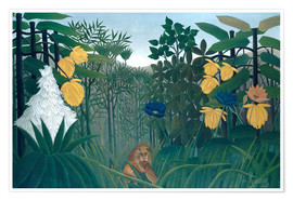 Poster  The meal of the lion - Henri Rousseau