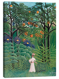 Toile  Woman in an exotic forest - Henri Rousseau