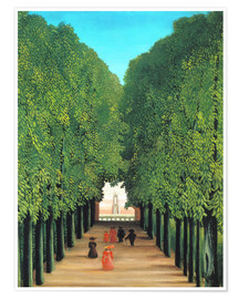 Henri Rousseau - Park avenue in Saint-Cloud