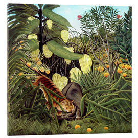 Verre acrylique  Combat of Tiger and Buffalo - Henri Rousseau