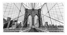 Poster NYC: Brooklyn Bridge (monochrome)