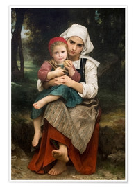 Poster  Breton Brother and Sister - William Adolphe Bouguereau