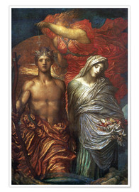 Poster  Time Death and Judgement  - George Frederic Watts