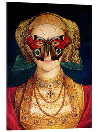 Tableau en verre acrylique  The butterfly mask (by Hans Holbein)