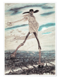 Poster  The Satanic Satan Sowing Tares - Felicien Rops