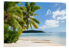 Forex  Beach with palm trees and turquoise ocean in Tahiti - Jan Christopher Becke