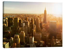 Tableau sur toile  Manhattan skyline in NY at sunset - Jan Christopher Becke