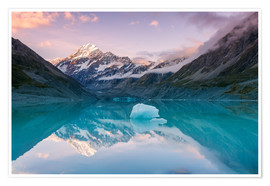 Poster  Glacial lake at Mt Cook, New Zealand - Matteo Colombo