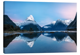 Tableau sur toile  Milford Sound, New Zealand - Matteo Colombo