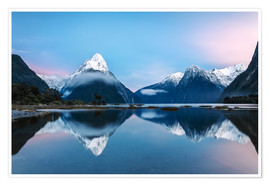 Poster  Milford Sound, New Zealand - Matteo Colombo