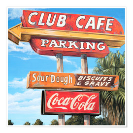 Poster Club Cafe
