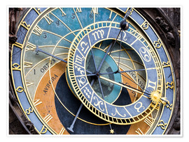 Poster  Astronomical clock Prague - Jan Christopher Becke