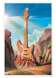Poster  Guitar Rock - Georg Huber