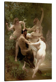 Alu-Dibond  Nymphs and satyr - William Adolphe Bouguereau