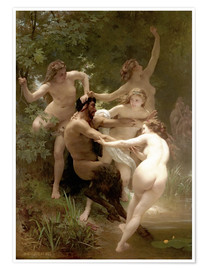 Poster Nymphes et satyre