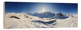 Bois  360 degree mountain panorama from Riffelberg above Zermatt with Monte Rosa and Matterhorn in Winter - Peter Wey