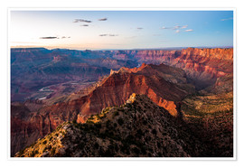 Poster Coucher de soleil sur South Rim, Grand Canyon, USA