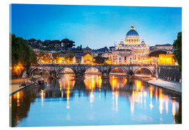 Tableau en verre acrylique  St. Peter and Tiber, Rome - Matteo Colombo