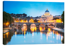 Tableau sur toile  St. Peter and Tiber, Rome - Matteo Colombo