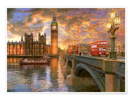 Poster  Westminster sunset - Dominic Davison