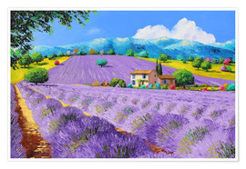 Poster  Lavenders under sunshine - Jean-Marc Janiaczyk
