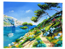 Tableau en verre acrylique  Walking in the cove - Jean-Marc Janiaczyk