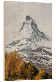 Tableau en bois  Matterhorn from Riffelalp, Zermatt, Switzerland - Peter Wey