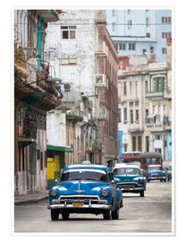 Poster  Taxis de l'avenue Colon, Cuba - Lee Frost