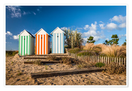 Poster  Colorful beach huts in Brittany (France) - Christian Müringer