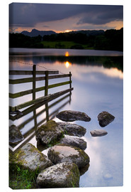 Toile  Loughrigg Tarn, Lake District National Park, Cumbria, England - Jeremy Lightfoot