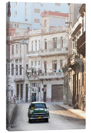 Toile  Taxi driving in Havana - Lee Frost