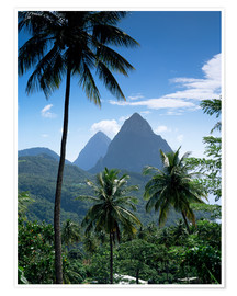 Poster  The Pitons, St Lucia - John Miller