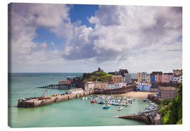 Tableau sur toile  Tenby Harbour, Pembrokeshire, West Wales, Wales, United Kingdom, Europe - Billy Stock