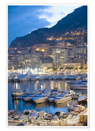 Poster  Harbour in the Port of Monaco, Principality of Monaco, Cote d'Azur, Mediterranean, Europe - Christian Kober
