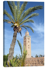 Tableau sur toile  Minaret of the Koutoubia Mosque, UNESCO World Heritage Site, Marrakech, Morocco, North Africa, Afric - Nico Tondini