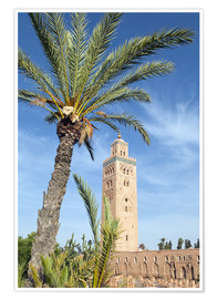 Poster Minaret of the Koutoubia Mosque, UNESCO World Heritage Site, Marrakech, Morocco, North Africa, Afric