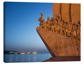 Tableau sur toile  Monument to Discoveries, Belem, Lisbon, Portugal, Europe - Angelo Cavalli