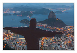 Poster  Christ the Redeemer, Corcovado - Angelo Cavalli