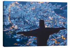 Tableau sur toile  Statue of Christ the Redeemer, Corcovado, Rio de Janeiro, Brazil, South America - Angelo Cavalli