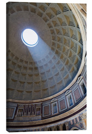 Tableau sur toile  A shaft of light through the dome of the Pantheon, UNESCO World Heritage Site, Rome, Lazio, Italy, E - Martin Child