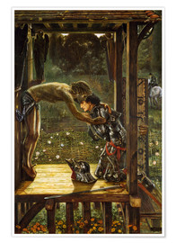 Poster  The Merciful Knight - Edward Burne-Jones