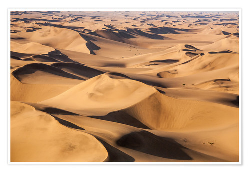 Poster Aerial view of the dunes of the Namib Desert, Namibia, Africa