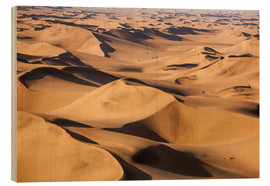Tableau en bois  Aerial view of the dunes of the Namib Desert, Namibia, Africa - Roberto Moiola